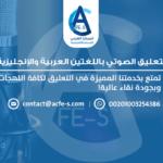 التعليق الصوتي باللغتين العربية والإنجليزية