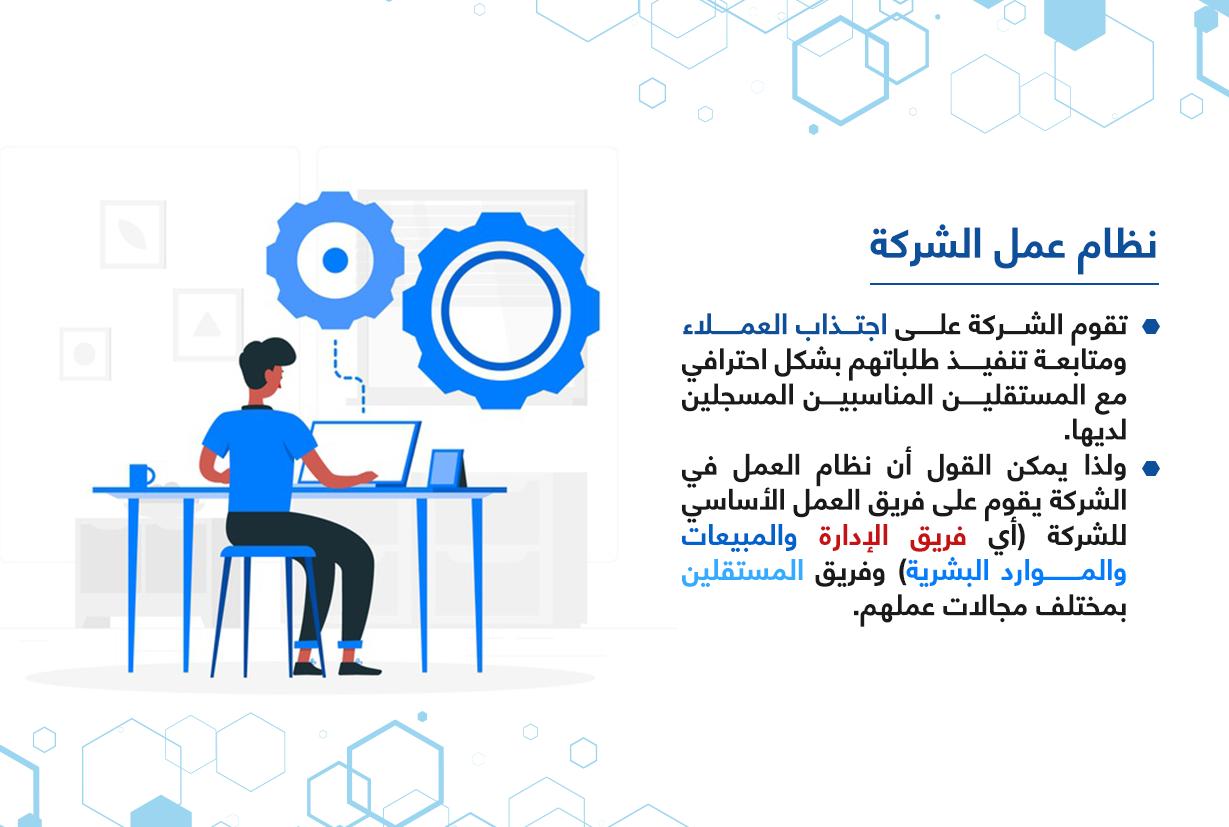 نظام عمل شركة المركز العربي للخدمات الإلكترونية - ACFE-S