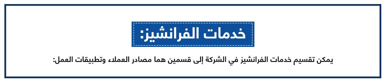 خدمات الفرانشيز بالمركز العربي للخدمات الإلكترونية - ACFE-S